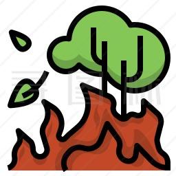 森林野火图标