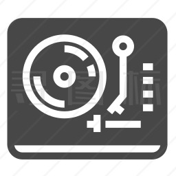 黑胶唱机图标
