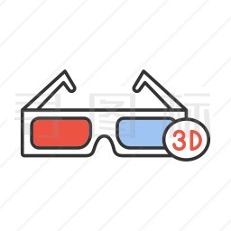 3d眼镜图标 有svg Png Eps格式 寻图标