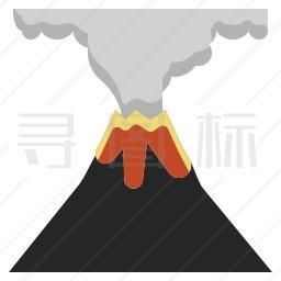 火山喷发图标