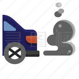 尾气污染图标