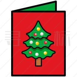 圣诞请帖图标