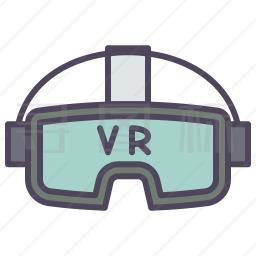 Vr眼镜图标 有svg Png Eps格式 寻图标
