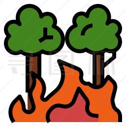 森林起火图标