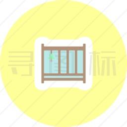 婴儿床图标