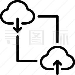 数据传输图标