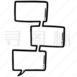 漫画对话框图标