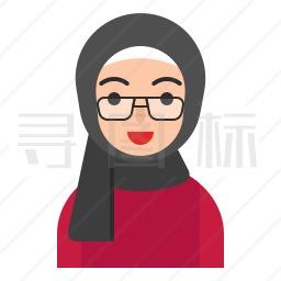 穆斯林女人图标