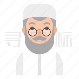 穆斯林男人图标