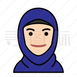 穆斯林女性图标