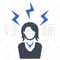 愤怒的女人图标