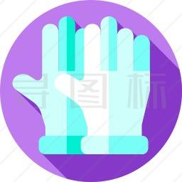 橡胶手套图标