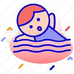 游泳运动员图标