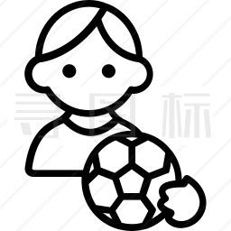 足球运动员图标