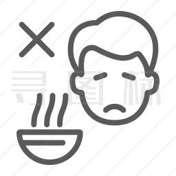 厌食症图标