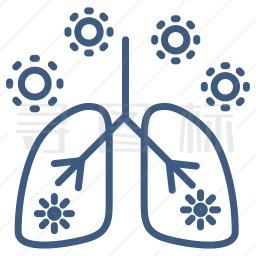 肺部感染图标