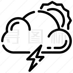 暴风雨图标