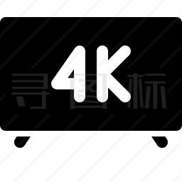 4k电视图标