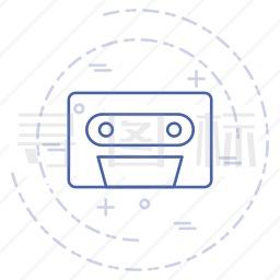 盒式录音带图标