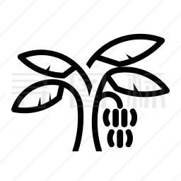 香蕉树图标