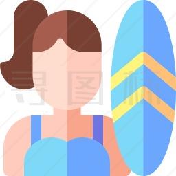 冲浪者图标