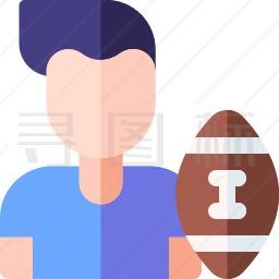 橄榄球运动员图标