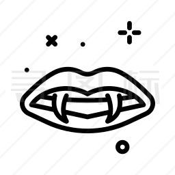 吸血鬼牙齿图标