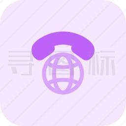 国际电话图标