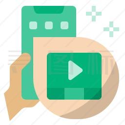 手机视频图标