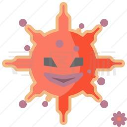 冠状病毒图标