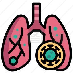 感染的肺图标