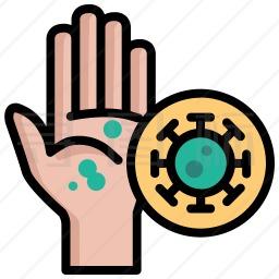 手部病毒图标