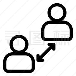 社交距离图标