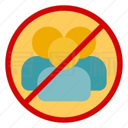 禁止社交图标