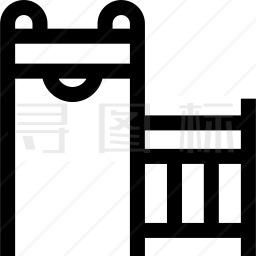 金属安检门图标