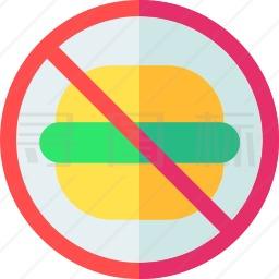 禁止快餐图标