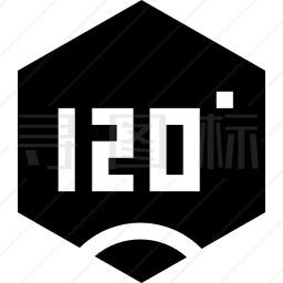 120°图标