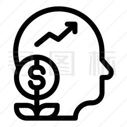 商业头脑图标