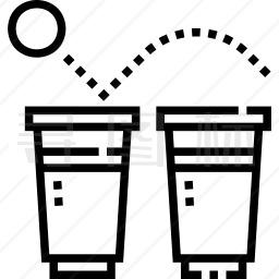 啤酒和乒乓球图标