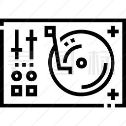 DJ混音器图标