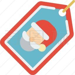 圣诞老人标签图标