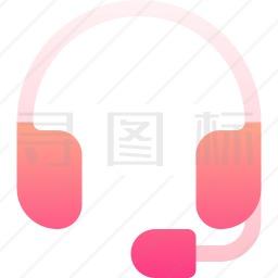 头戴式耳机图标