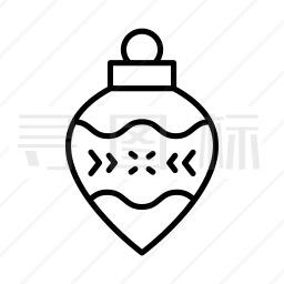 圣诞彩球图标