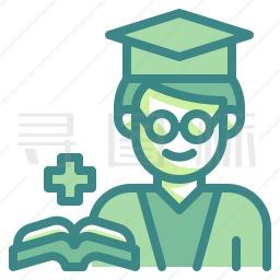 医学毕业生图标