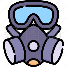 防护面罩图标