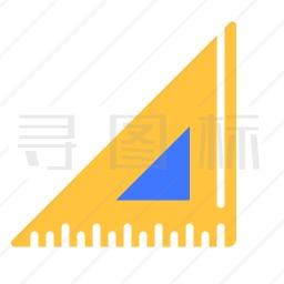三角尺图标