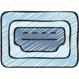 HDMI端口图标