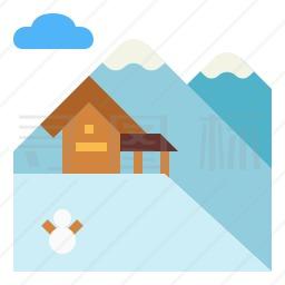 滑雪胜地图标
