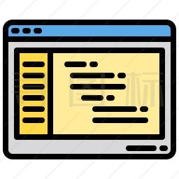 网页代码图标
