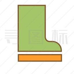 橡胶鞋图标